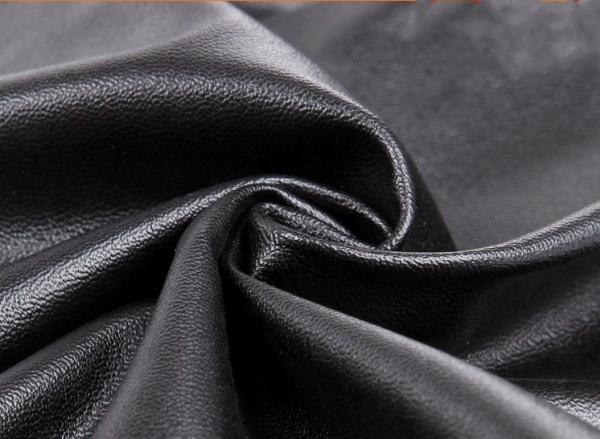 Women Shiny Metallic High Waist Pants Black Stretchy faux Leather Leggings
