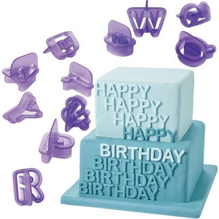 1Set(40Pcs)  Alphabet Letter Cookie Cutters Cake Decorating Molds Sugarcraft Chocolate Moulds Baking Accessories