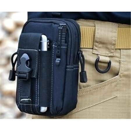 Tactical Molle Waist Bags Men's Outdoor Sport Casual Waist Pack Purse Mobile Phone Case for Phone 1000D CORDURA